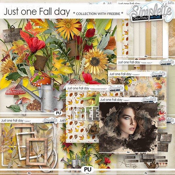 Just one Fall day (collection with free pack offered) by Simplette | Oscraps