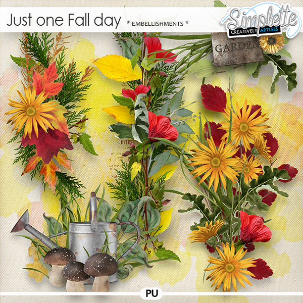Just one Fall day (embellishments) by Simplette   Oscraps