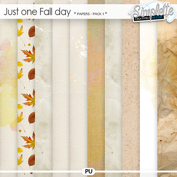 Just one Fall day (papers) pack 1 by Simplette | Oscraps