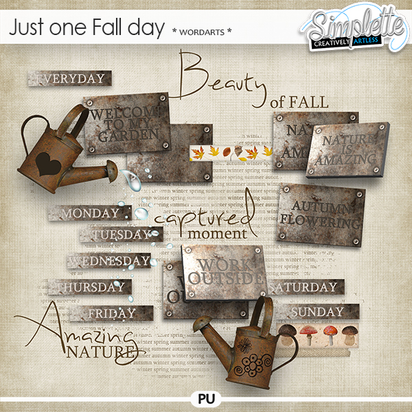 Just one Fall day (wordarts) by Simplette   Oscraps