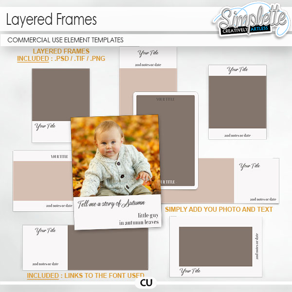 Layered Frames (CU) element templates