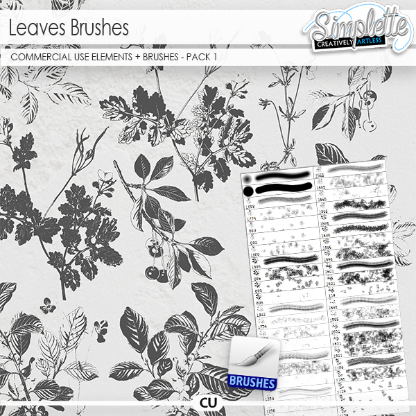 Leaves (CU elements + brushes .abr) pack 1