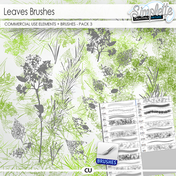 Leaves (CU elements + brushes .abr) pack 3
