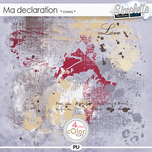 Ma Declaration (stains) by Simplette