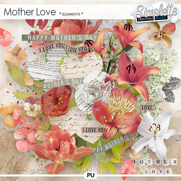 Mother Love (elements) by Simplette
