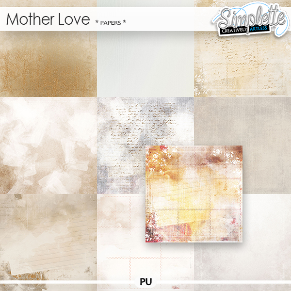 Mother Love (papers) by Simplette
