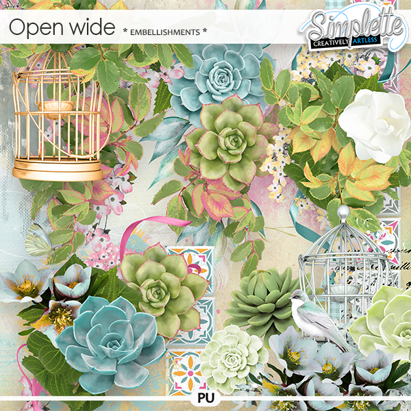 Open Wide (embellishments) by Simplette