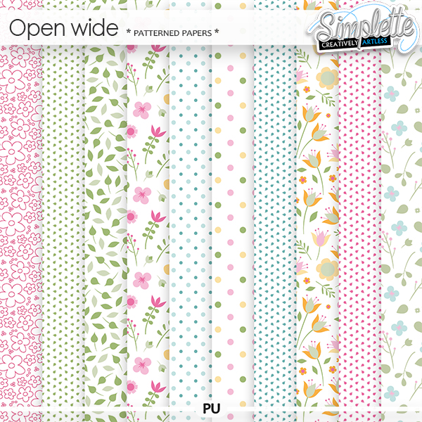 Open Wide (patterned papers) by Simplette