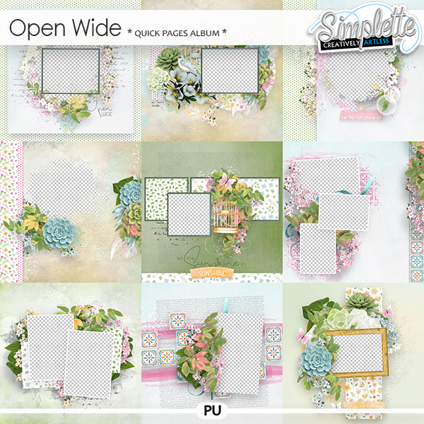 Open wide (quick pages album) by Simplette