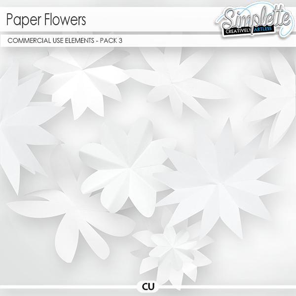 Paper Flowers (CU elements) pack 3