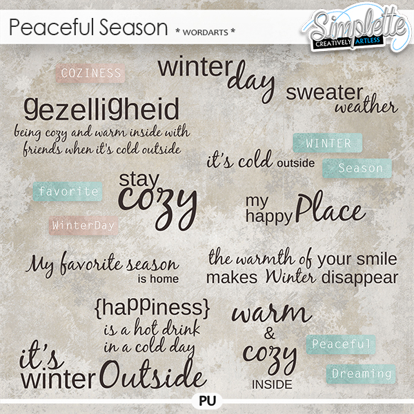 Peaceful Season (wordarts) by Simplette