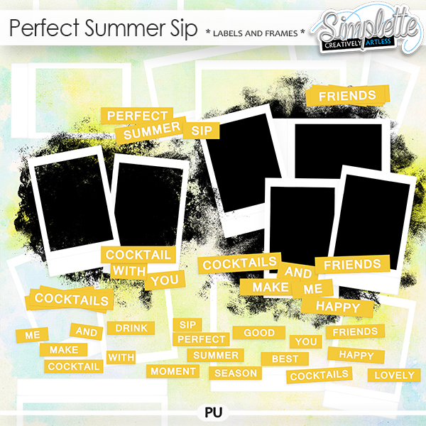 Perfect Summer Sip (labels and frames)