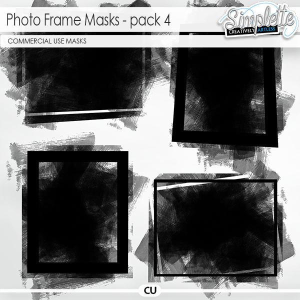 Photo Frame Masks (CU) pack 4 by Simplette