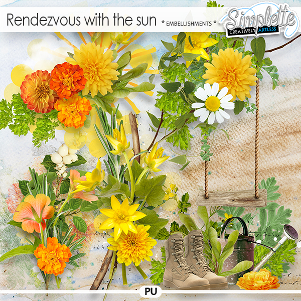 Rendezvous with the sun (embellishments) by Simplette