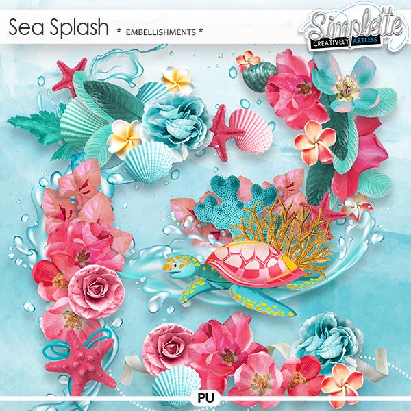Sea Splash (embellishments) by Simplette   Oscraps