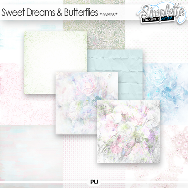 Sweet Dreams and Butterflies (papers) by Simplette