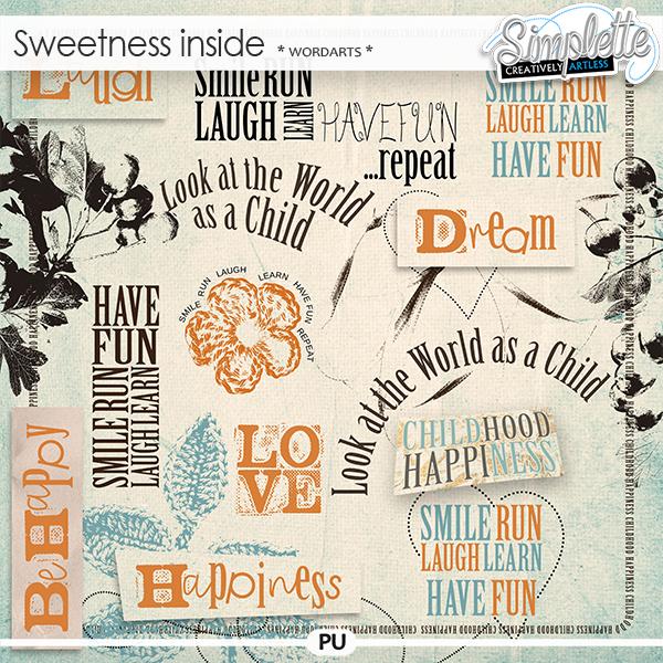 Sweetness inside (wordarts)