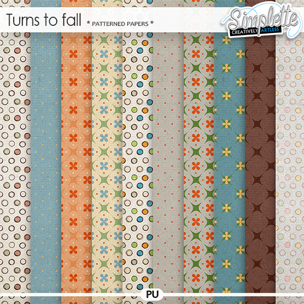 Turns to fall (patterned papers)
