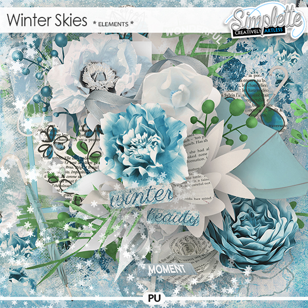 Winter Skies (elements) by Simplette