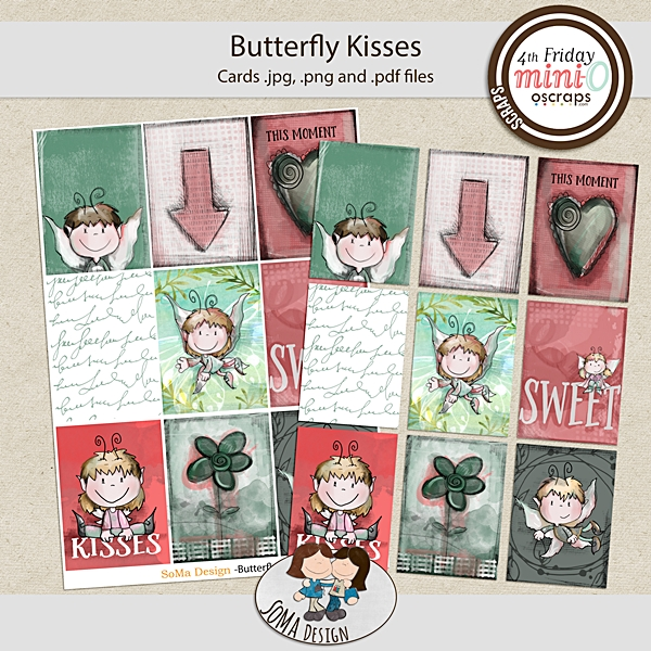 Butterfly Kisses cards by Soma Design