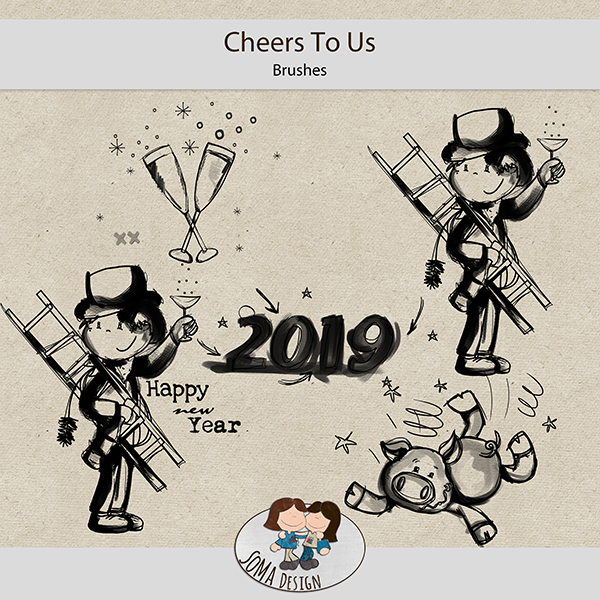 SoMa Design: Cheers To Us - Brushes