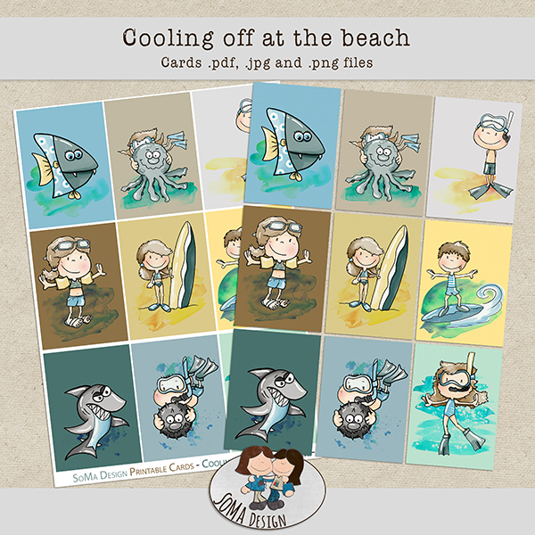 SoMa Design: Cooling Off At The Beach - Cards