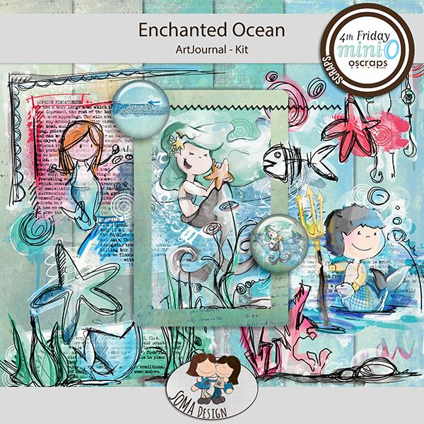 SoMa Design: Enchanted Ocean MiniO - Art Journal - kit