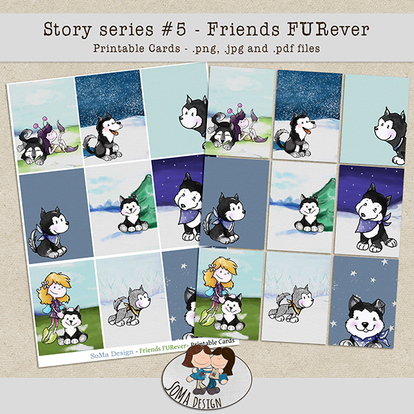 SoMa Design Friends FURever Cards