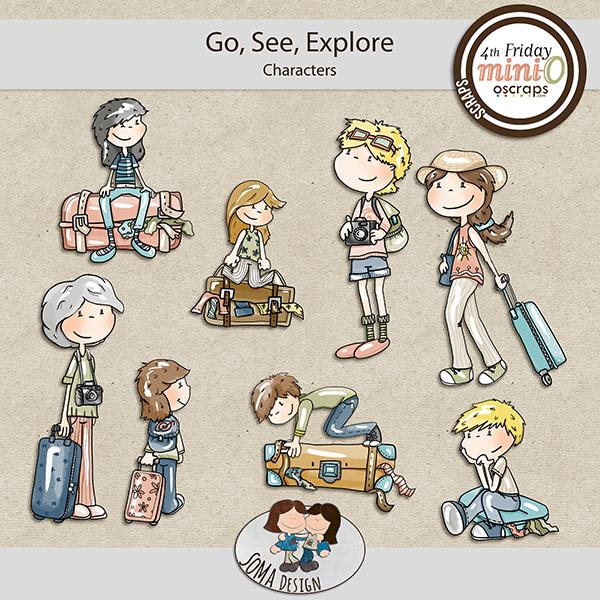 SoMa Design: Go, See, Explore - MiniO - Characters