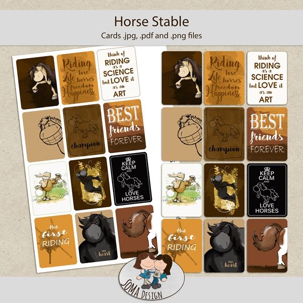 SoMa Design: Horse Stable - Cards