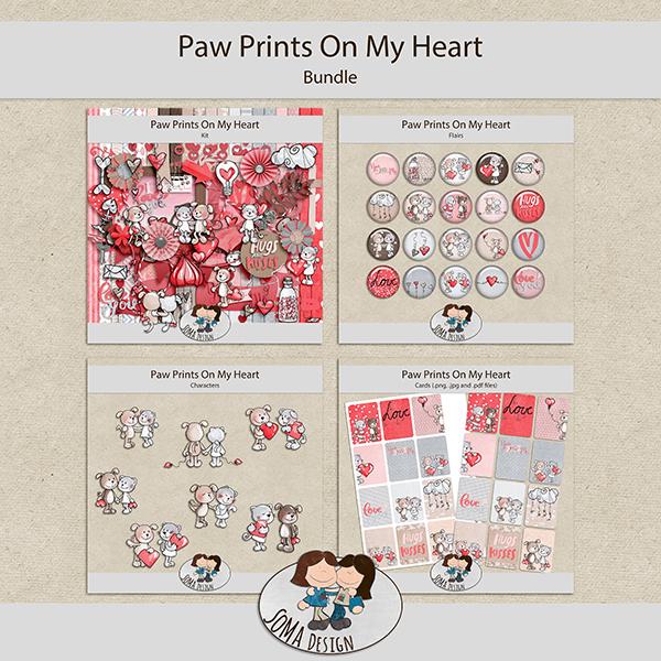 SoMa Design: Paw Prints On My Heart  - Bundle