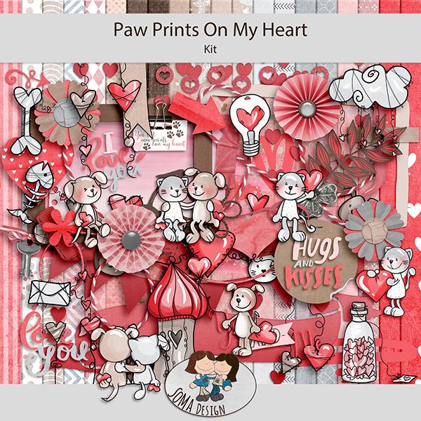 SoMa Design: Paw Prints On My Heart  - Kit
