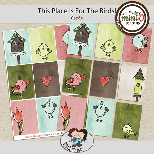 SoMa Design: This Place Is For The Birds - MiniO - Cards