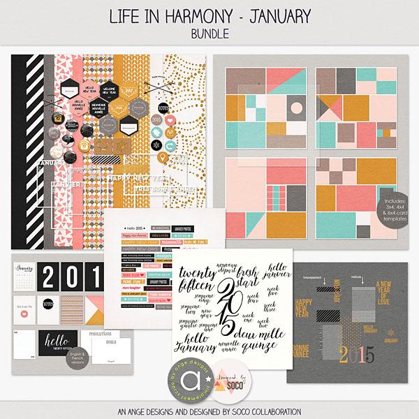 Life In Harmony - January {Bundle}