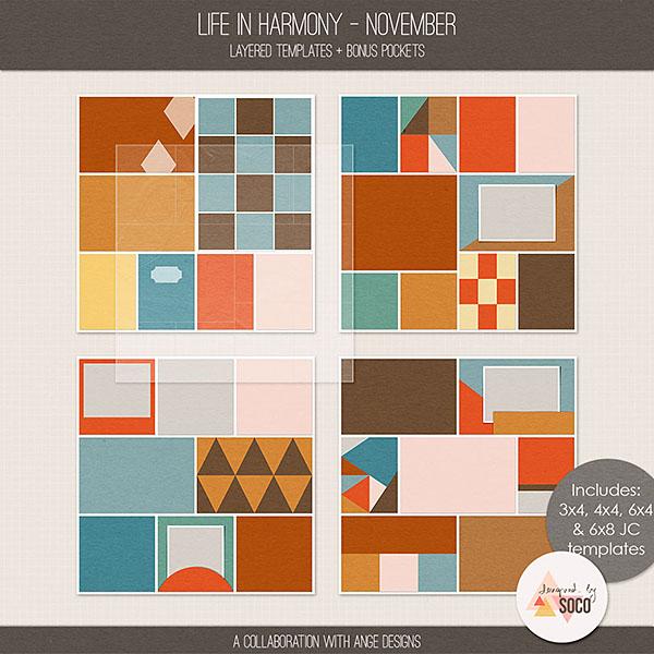 Life In Harmony - November {Templates}