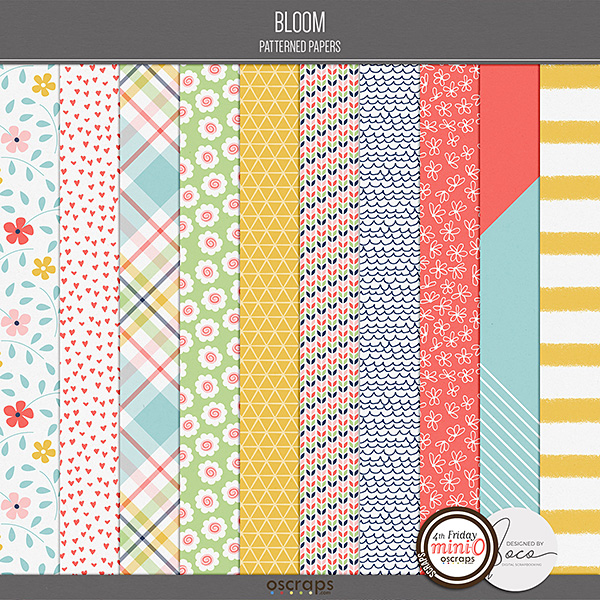 Bloom - Patterned Papers