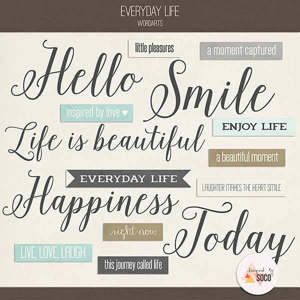 Everyday Life - Wordarts