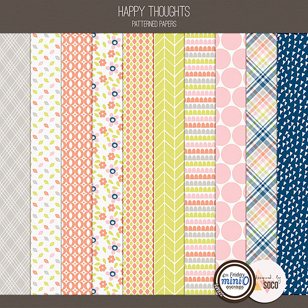 Happy Thoughts - Patterned Papers