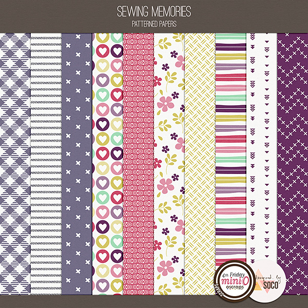 Sewing Memories - Patterned Papers