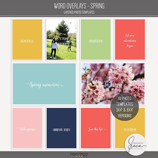 Word Overlays - Spring