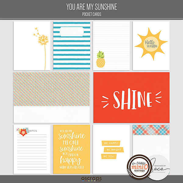 You Are My Sunshine - Pocket Cards