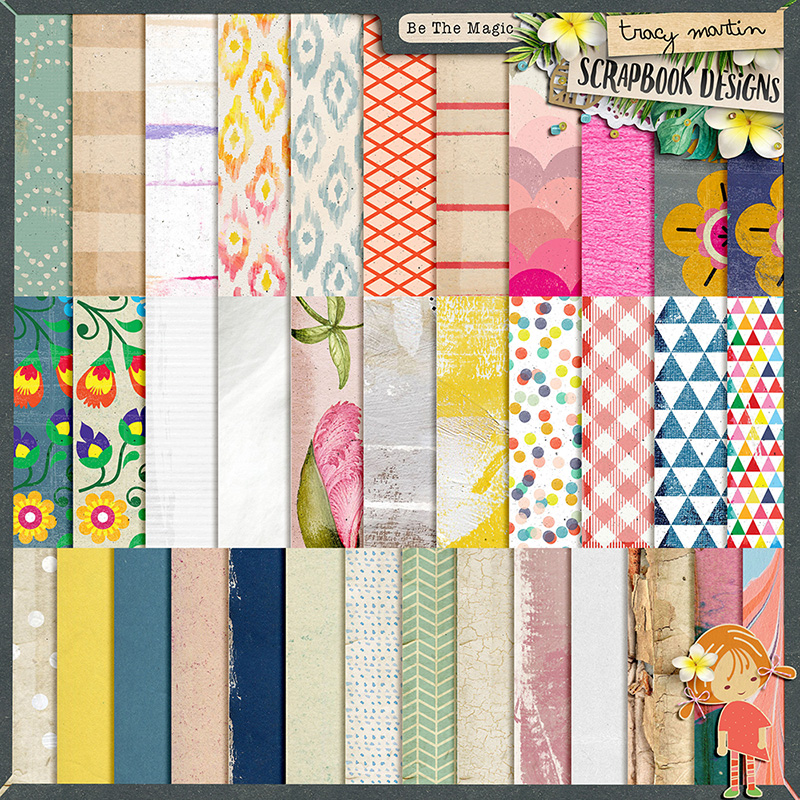 Be The Magic papers by Tracy Martin Designs