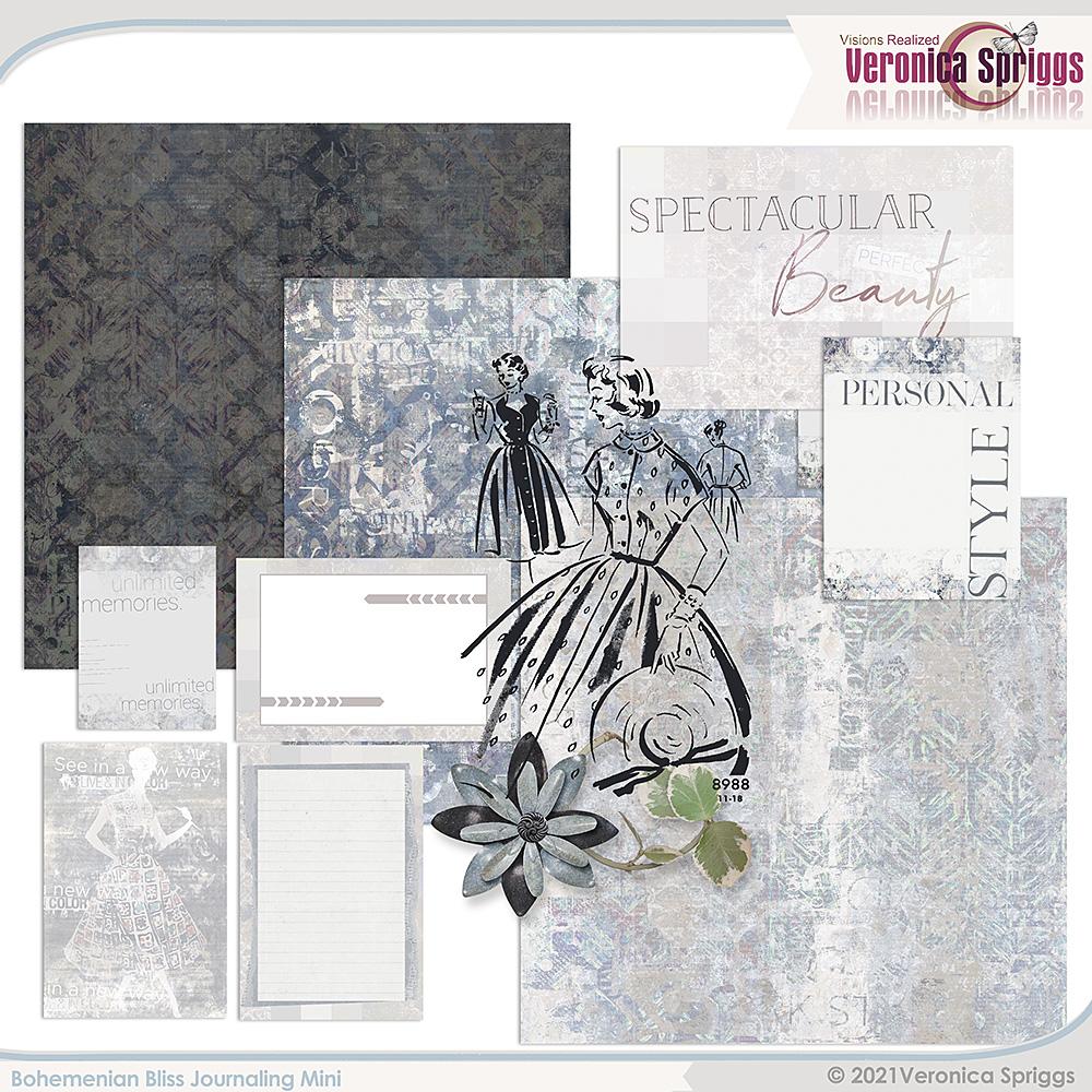 Bohemian Bliss Journaling Mini Kit by Veronica Spriggs