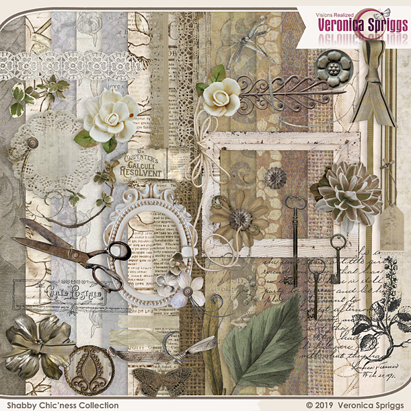 Shabby Chicness Page Kit