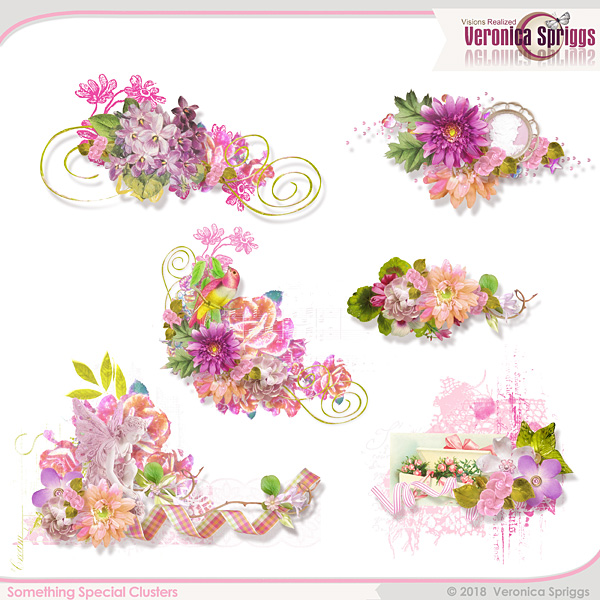 Something Special Embellishments Mini Clusters