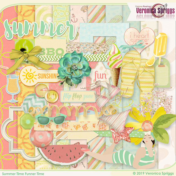 Summer Time Funner Time Page Kit