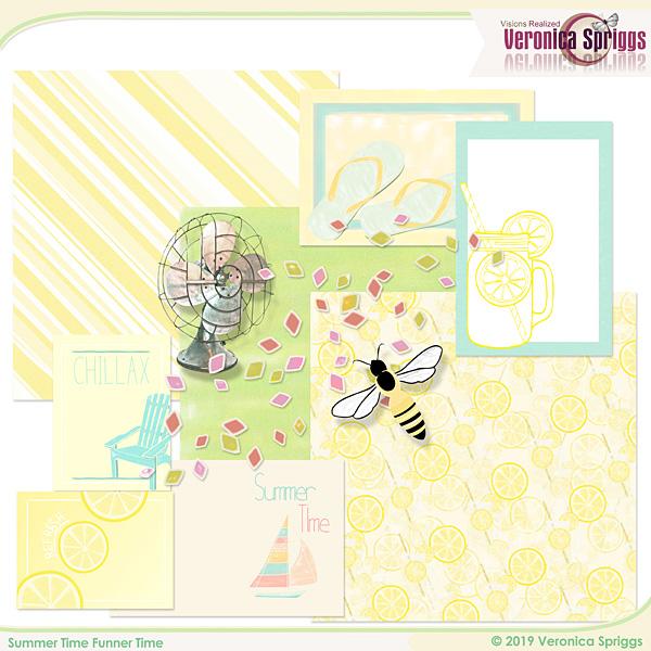 Summer Time Funner Time Journal Mini Kit Vol 2