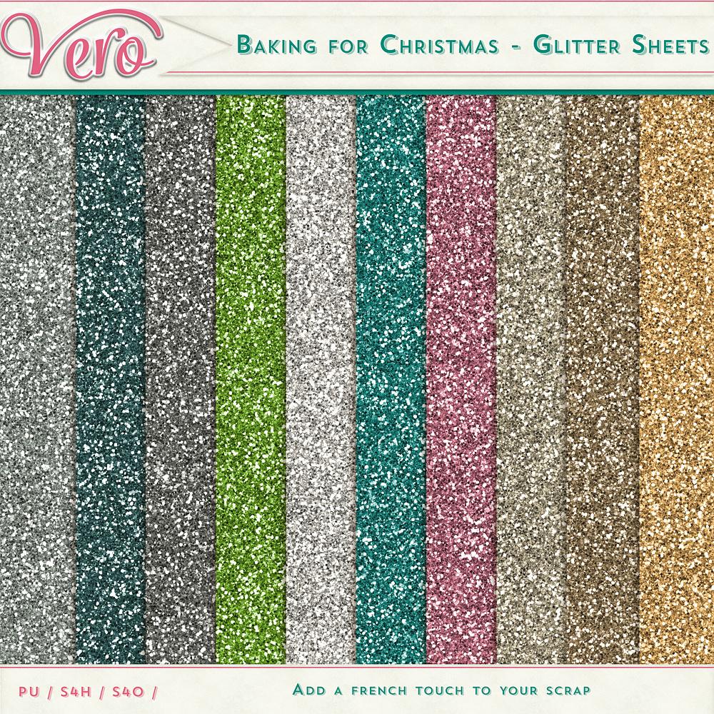 Baking for Christmas - Glitter Sheets