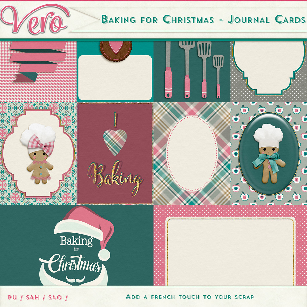 Baking for Christmas - Journal Cards