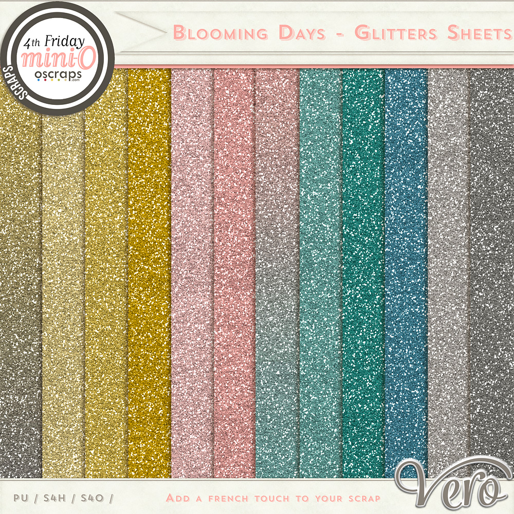 Blooming Days - Glitters Sheets